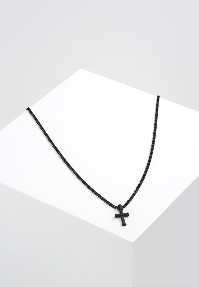 MINI CROSS TO BEAR - Necklace - black