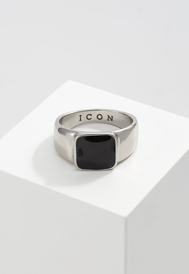 SIGN OF THE TIMES SIGNET - Ring - silver-coloured