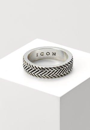 HERRING BONE BAND RING - Prsten - silver-coloured
