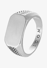 Icon Brand - HERRING BONE SIGNET - Ring - silver-coloured - 3
