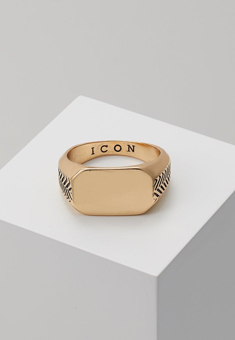 Icon Brand - HERRING BONE SIGNET - Ringe - gold-coloured
