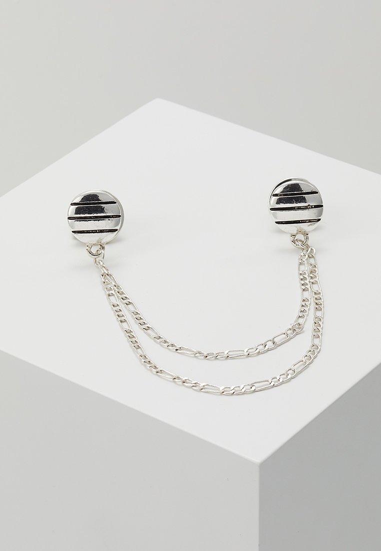 Icon Brand - PINSTRIPE COLLAR TIP - Halskette - silver-coloured