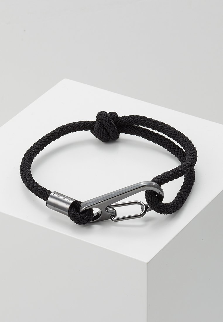 Icon Brand - HINDER CORD BRACELET - Armband - black
