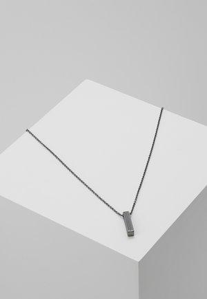 PINSTRIPE NECKLACE - Náhrdelník - gunmetal