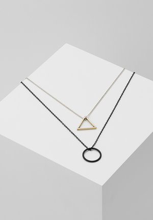 TRIGONOMETRY NECKLACE 2 PACK - Náhrdelník - black/silver-coloured