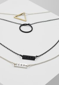 Icon Brand - TRIGONOMETRY NECKLACE 2 PACK - Necklace - black/silver-coloured - 2