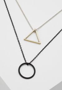 Icon Brand - TRIGONOMETRY NECKLACE 2 PACK - Necklace - black/silver-coloured - 4
