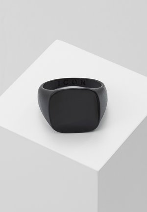 SQUARED SIGNET - Prsten - black