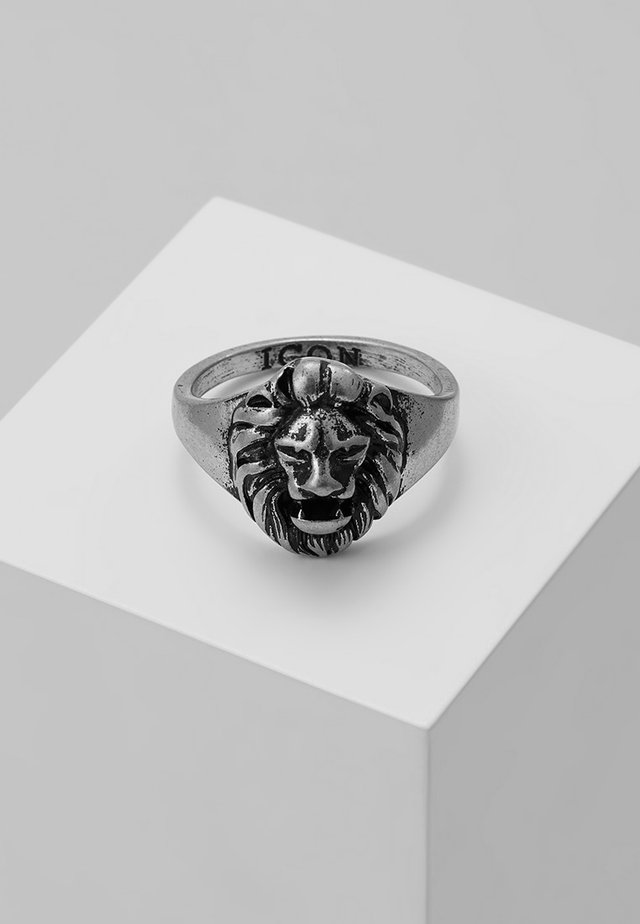 LION HEAD SIGNET - Ring - silver-coloured
