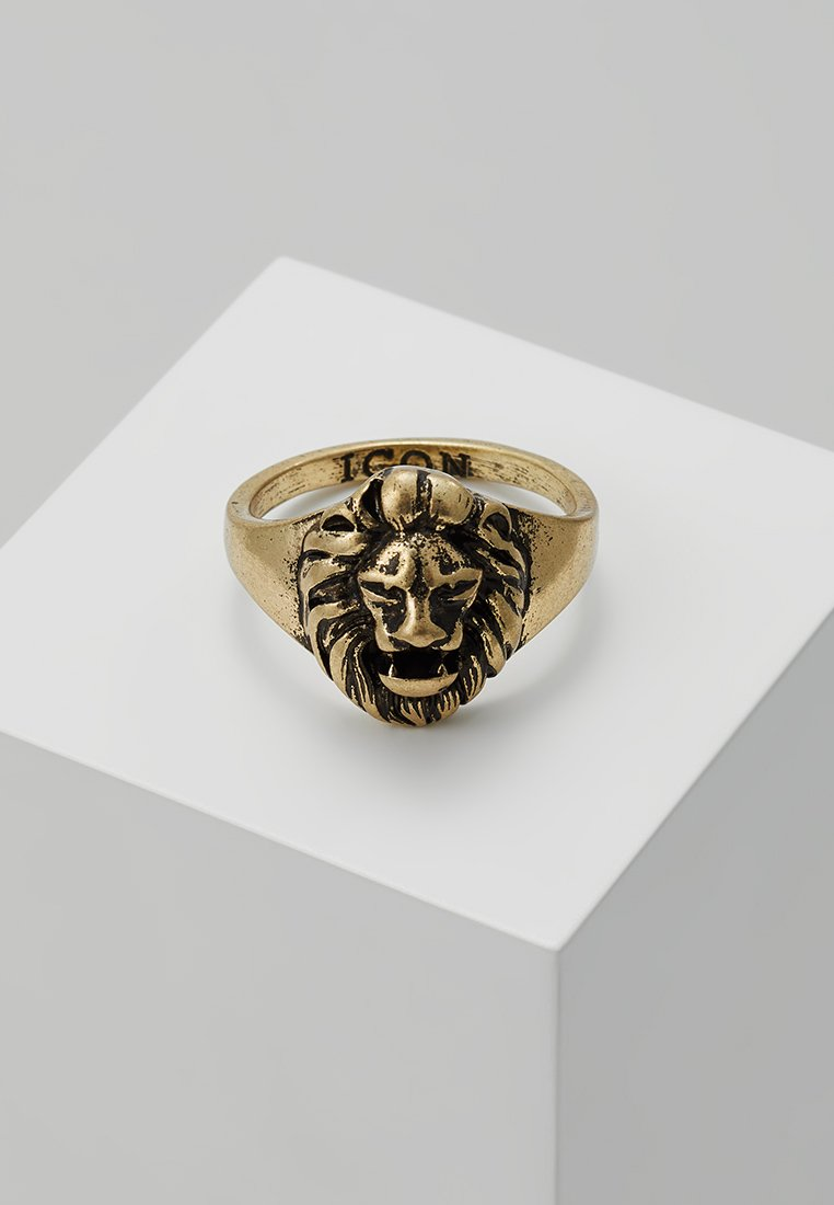 Icon Brand - LION HEAD SIGNET - Ringe - gold-coloured