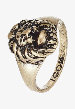 LION HEAD SIGNET - Ringar - gold-coloured