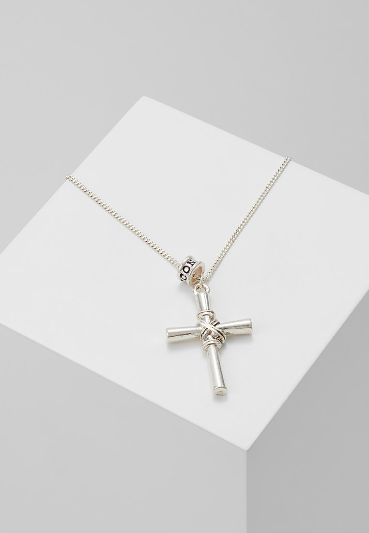 Icon Brand - WRAPPED CRUCIFIX NECKLACE - Necklace - silver-coloured