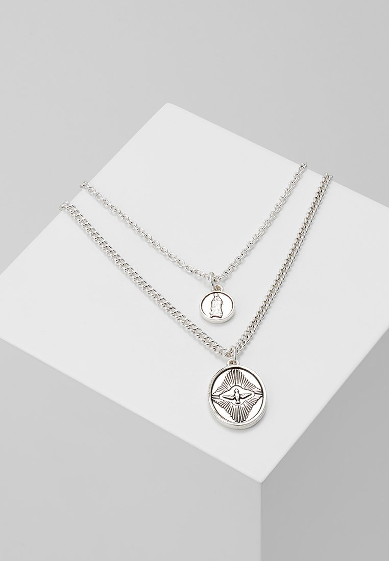 Icon Brand - PEACE OUT NECKLACE COMBO - Halskette - silver-coloured