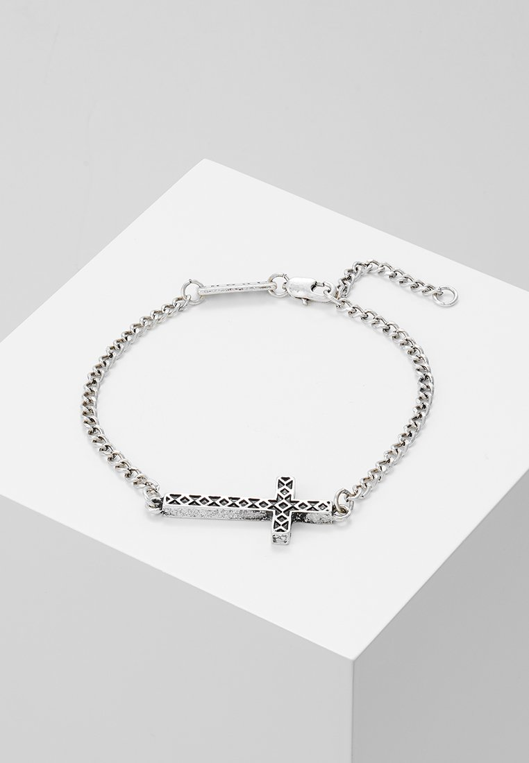 Icon Brand - ENGRAVED CROSS TOWN BRACELET - Armband - silver-coloured