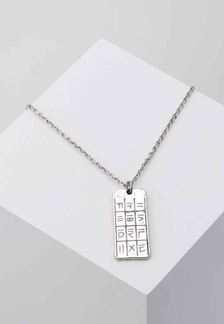 Icon Brand - HIEROGLYPH PENDANT NECKLACE - Collier - silver-coloured