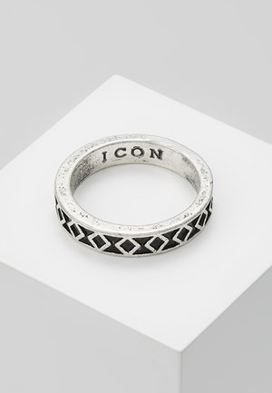 ENGRAVED ICON BAND RING - Ringe - silver-coloured
