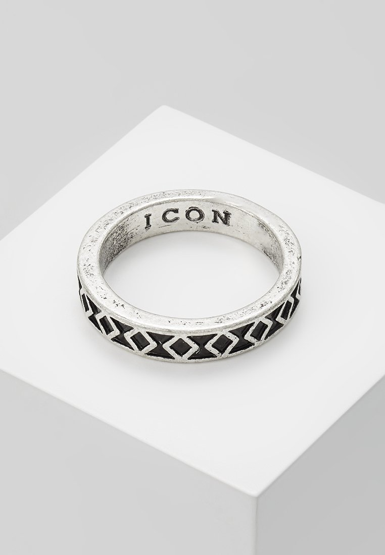 Icon Brand - ENGRAVED ICON BAND RING - Ring - silver-coloured