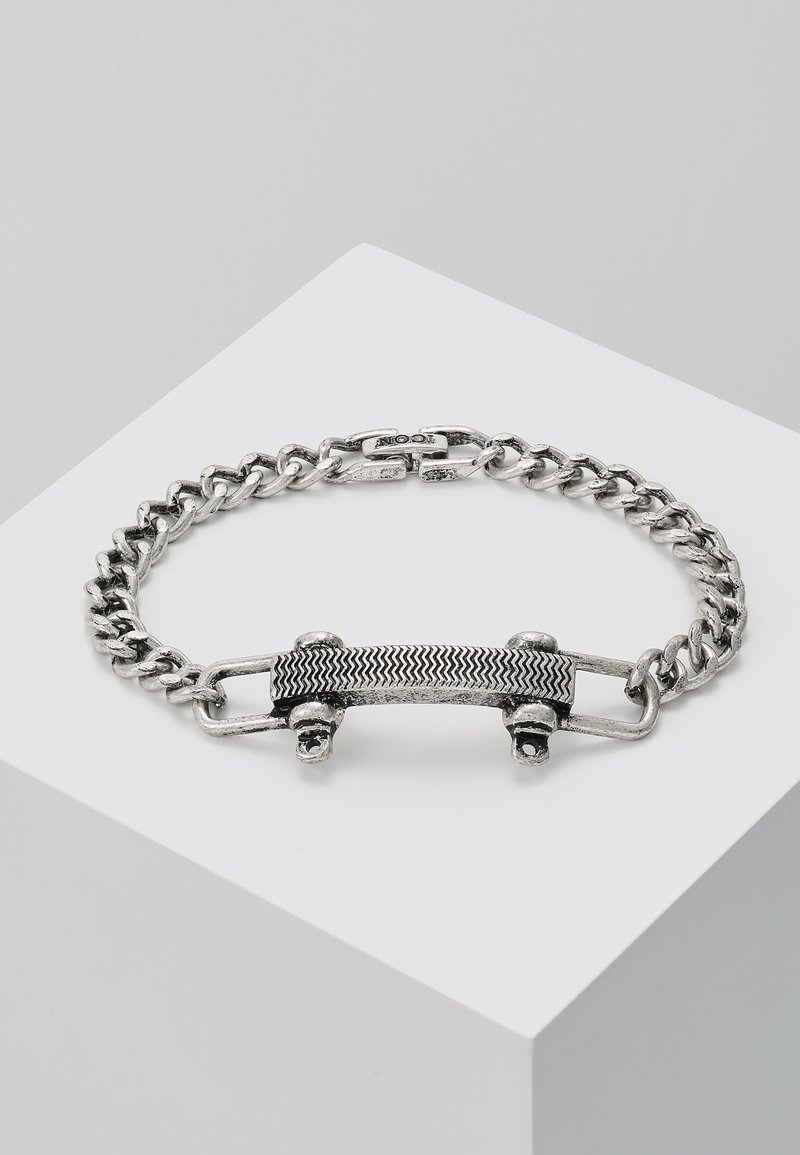 Icon Brand - SHACKLE PIN BRACELET - Armband - silver-coloured