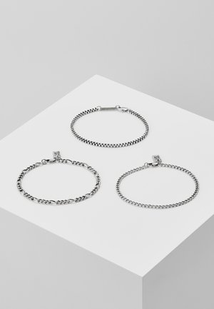 TRIPLE CHAIN COMBO 3 PACK - Bransoletka - silver-coloured