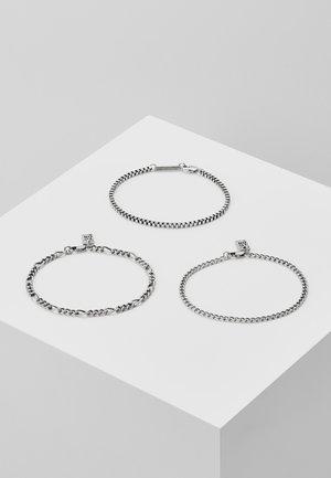 TRIPLE CHAIN COMBO 3 PACK - Bracelet - silver-coloured