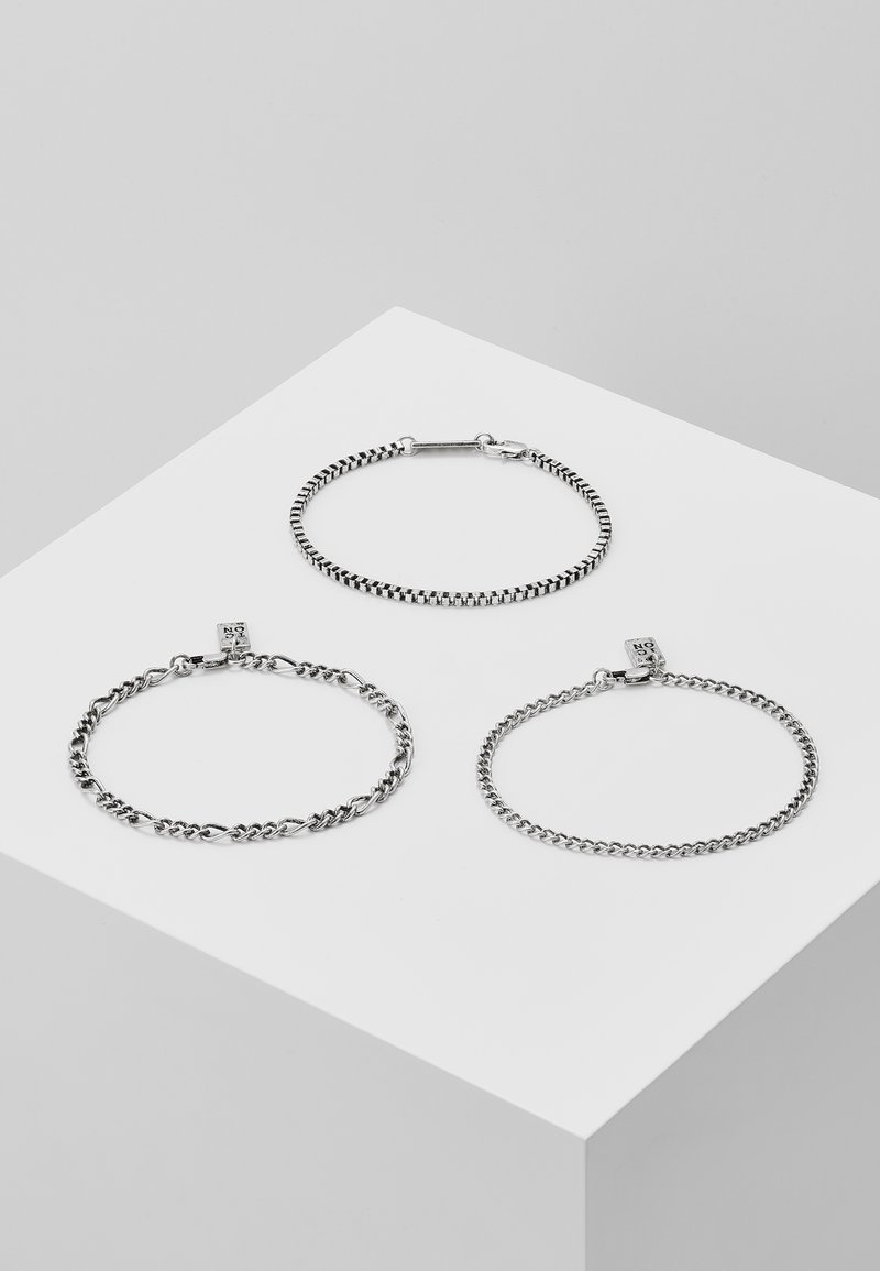 Icon Brand - TRIPLE CHAIN COMBO 3 PACK - Armband - silver-coloured