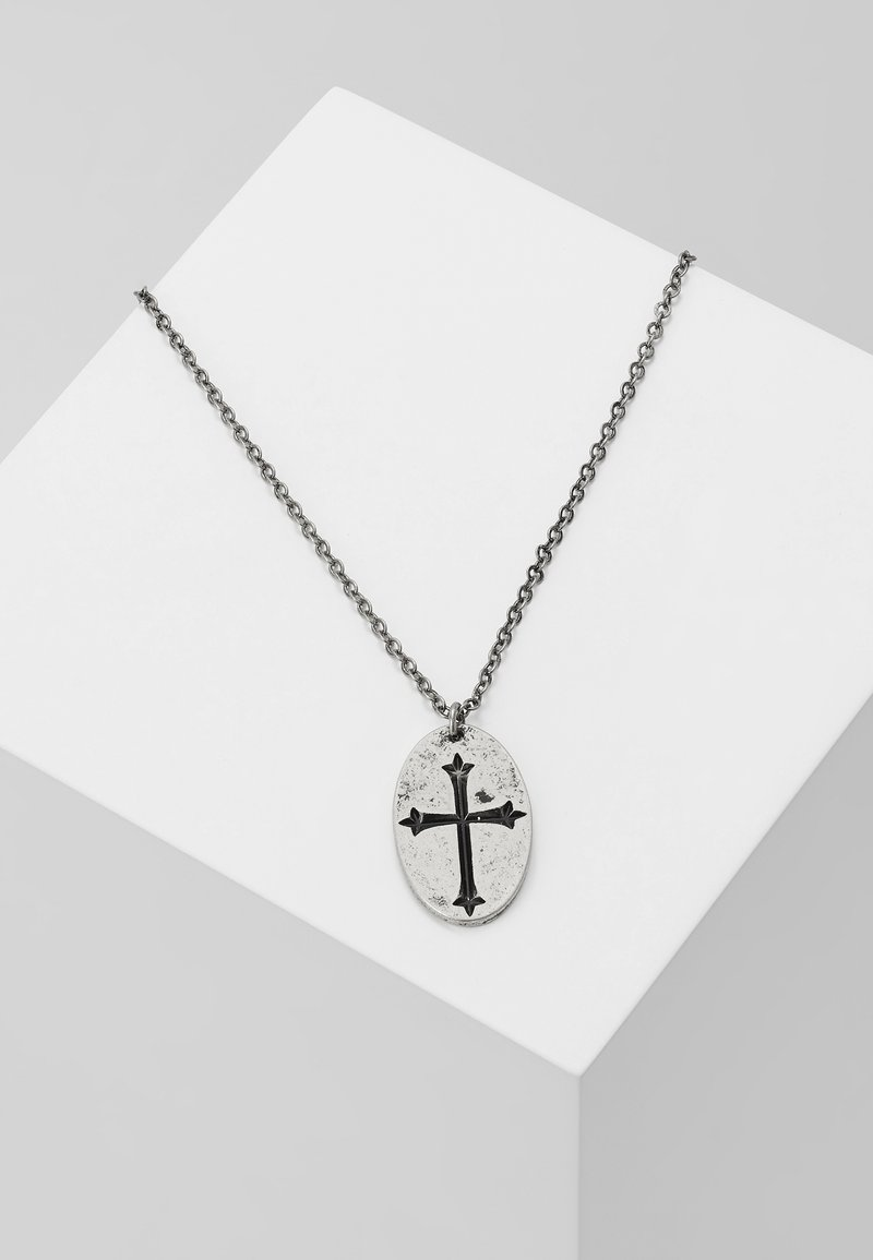 Icon Brand - CROIX NOUVELLE NECKLACE - Halskette - silver-coloured