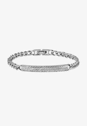 HERRINGBONE BRACELET - Armband - antique silver-coloured