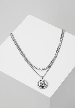 TWO ROW NECKLACE - Collana - silver-coloured