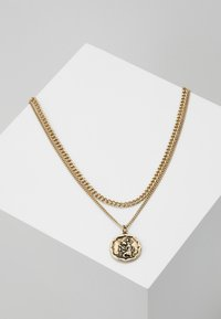 Icon Brand - TWO ROW NECKLACE - Necklace - antique gold-coloured - 0