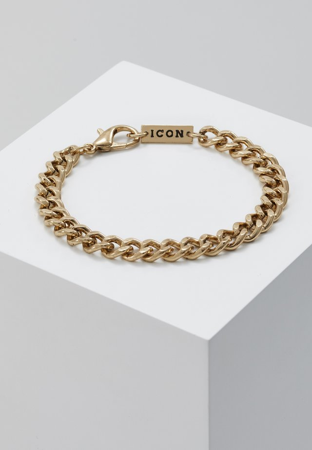 CHUNKY CHAIN BRACELET - Armband - antique gold-coloured