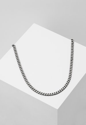 Necklace - gunmetal-coloured