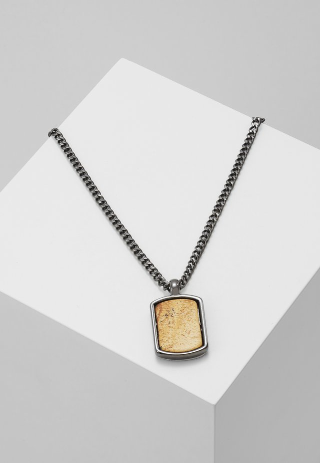 MANTLE NECKLACE - Ketting - gunmetal-coloured