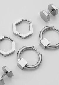 Icon Brand - CONVEYOR EARRING SET - Korvakorut - silver-coloured - 4