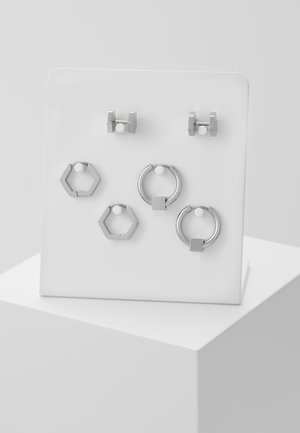 CONVEYOR EARRING SET - Kolczyki - silver-coloured