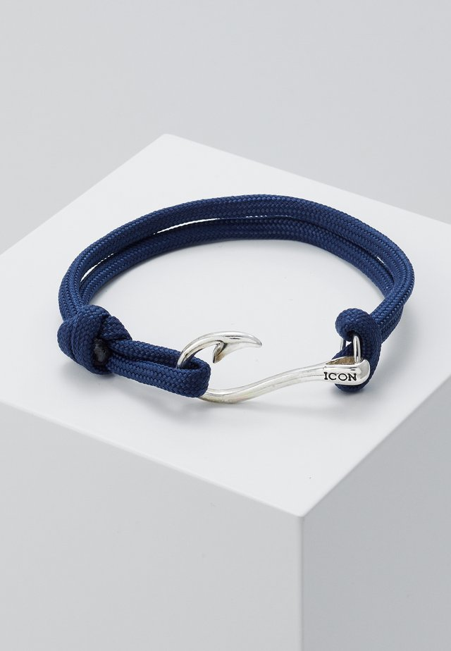 HOOKED BRACELET - Bracelet - navy/silver-coloured