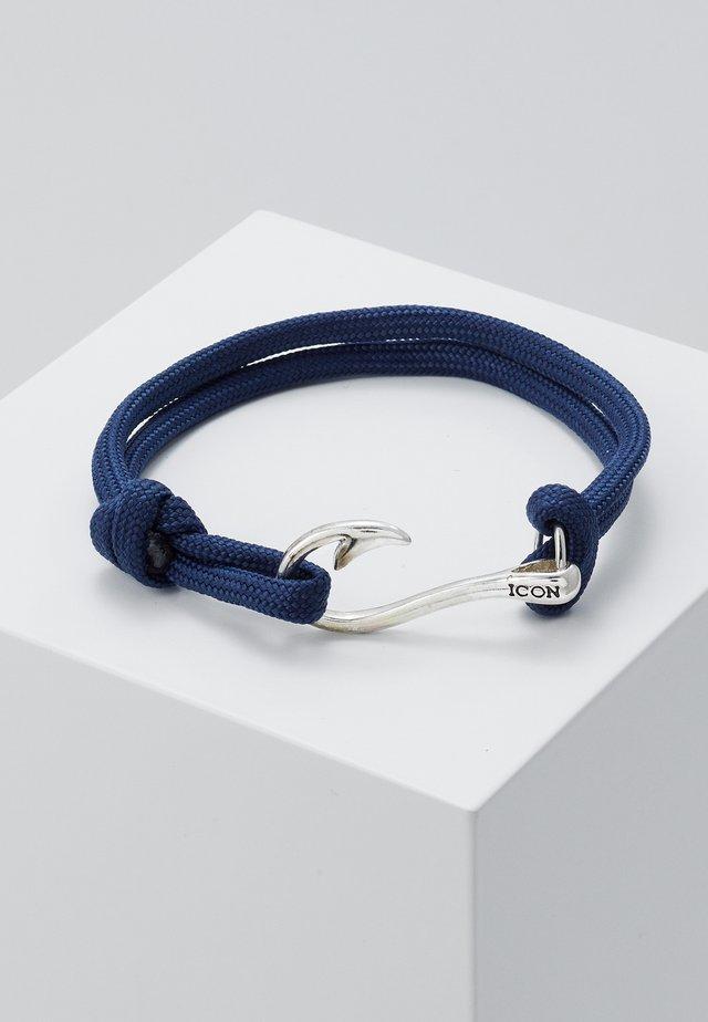 HOOKED BRACELET - Bransoletka - navy/silver-coloured