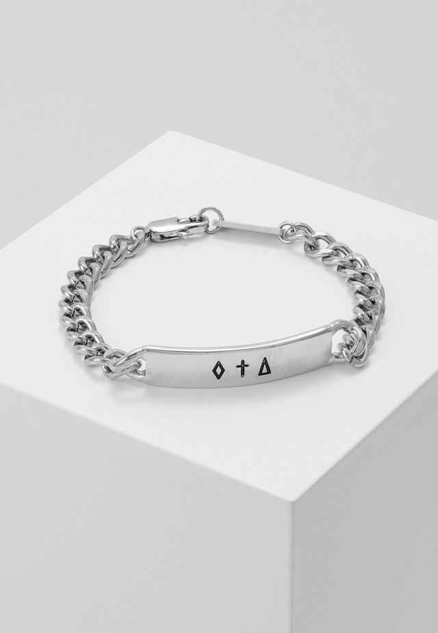 BAR CHAIN BRACELET - Bracelet - silver-coloured