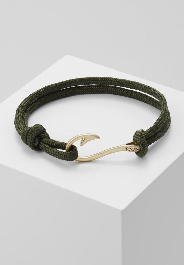 HOOKED BRACELET - Armband - khaki/gold