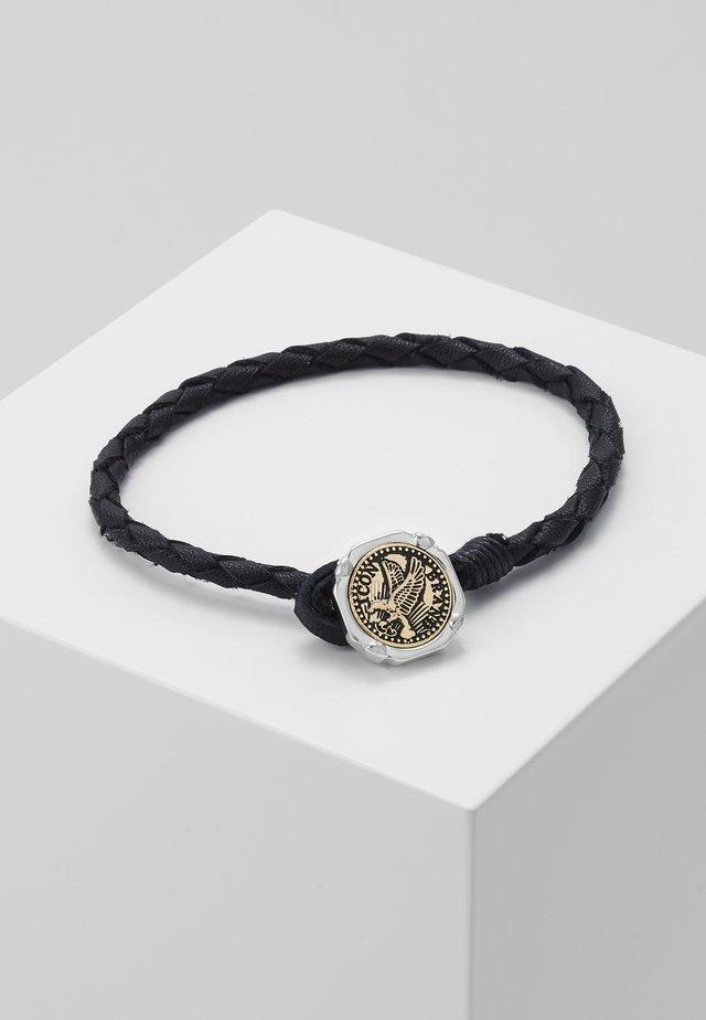 EAGLE COIN PLAITED BRACELET - Armband - black