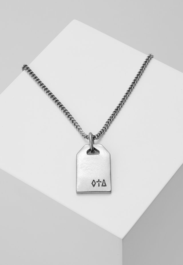 SYMBOLIC ENGRAVED DOG TAG NECKLACE - Necklace - silver-coloured