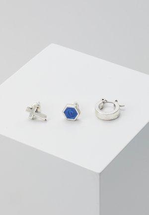 SODALITEEARRING 3 PACK - Earrings - rhodium-coloured