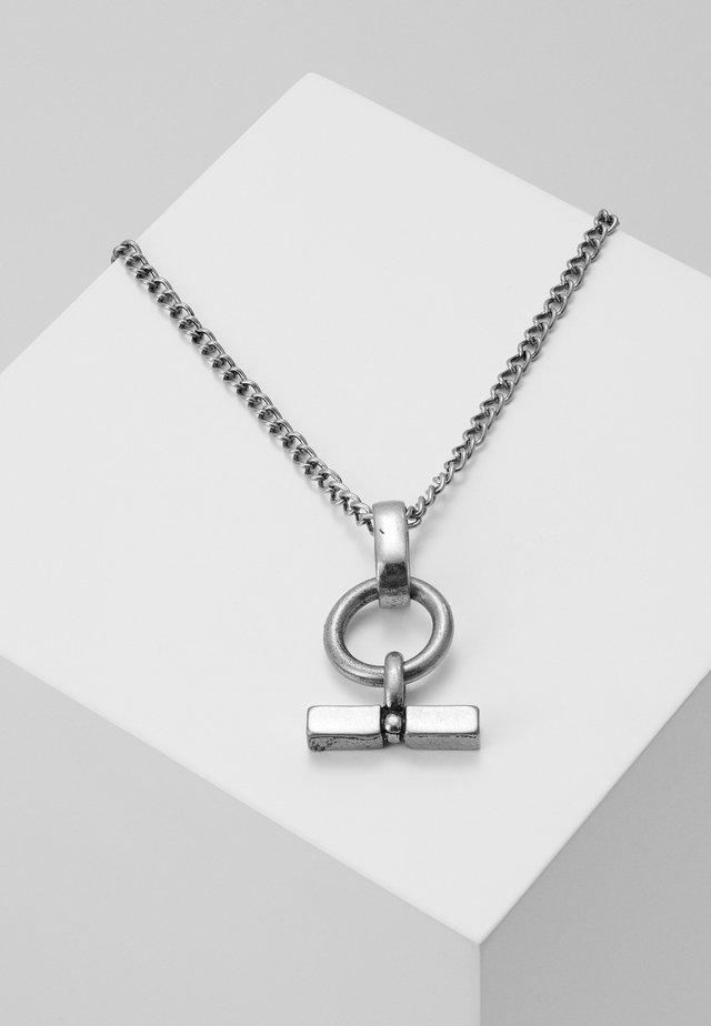 T-BAR DROP NECKLACE - Necklace - rhodium-coloured