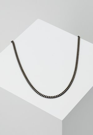 COATED CURB CHAIN - Necklace - black