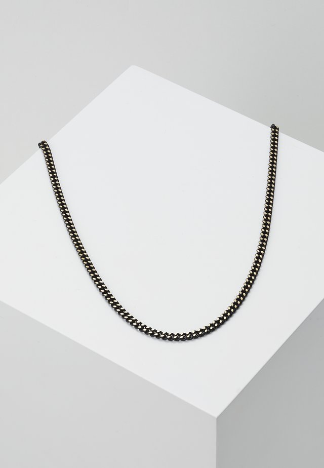 COATED CURB CHAIN - Collier - black