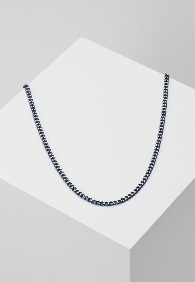 COATED CURB CHAIN - Necklace - blue/gold-coloured