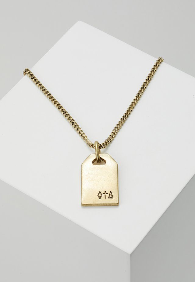SYMBOLICENGRAVEDDOG TAG NECKLACE - Naszyjnik - gold-coloured