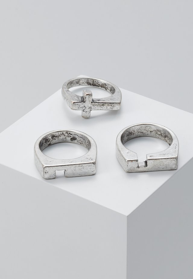 CROSS STACKING 3 PACK - Bague - silver-coloured
