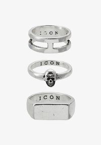 Icon Brand - LINEAR RING 3 PACK - Ring - rhodium - 3