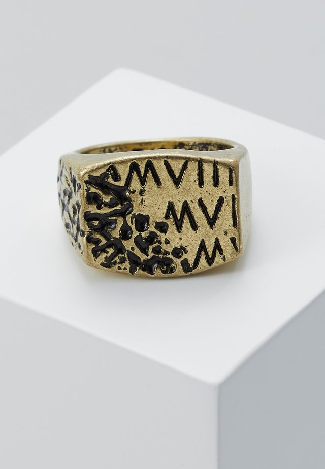 ERODED ROMAN NUMERAL - Prsten - gold-coloured