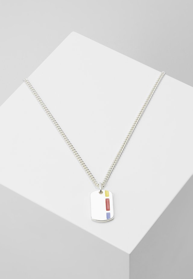 COLOUR POP TAG NECKLACE - Collana - silver-coloured